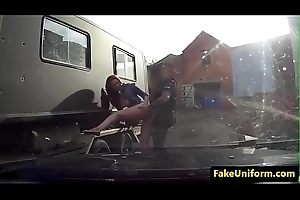 Married ginger Brit smashed outdoors by cop