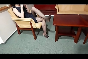 Cams4free.net - Walking Floor of the Hotel nearly Stockings