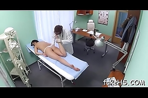 Excellent orgasms for a hot doctor