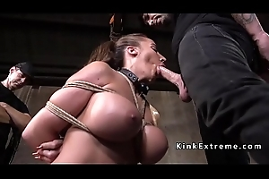 Huge tits usherette gets big ass spanked