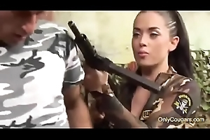 Army Honeys Cindy Behr and Kaia Kane Bourgeoning A Soldiers Cock Heavens The Battle Feild