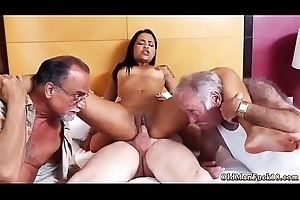 Old supplicant fuck youthful Staycation with a Latin Hottie