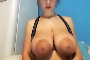 Hot milf breast milf squeezed live show