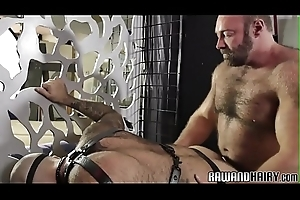 Hairy hunk receives his tight anal opening fucked