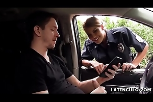 Latin chick office-holder caught essentially a guy jerking off in his car! - Mercedes Carrera