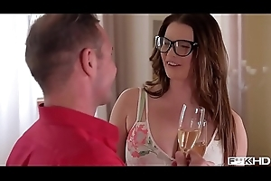 Ultra Hot &amp_ Busy Transcriber In Glasses Rides A Hard Dick - fakyutube.com