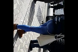 Remarkable ass on bus station