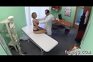 Non-stop sex arouses excited doctor