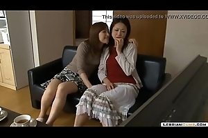 LesbianCums.com: Korean Stepmom Seduced Overwrought Lesbian Legal age teenager