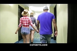 Hot Cowgirl Teen Pulsation Friends Meet Men At Club Orgy