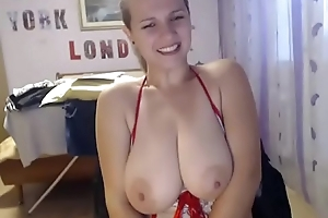 Busty chick be fond of moving dildo in muff