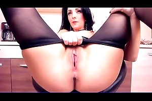 Sexy Brunette Plays about Her Pussy &amp_ Big Tits - More to hand CamAngelsLive.com