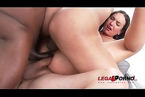 Nataly Gold Destroyed in sensual cock fuck set-to with DAP &amp_ Triple penetration