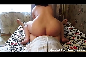 BBW Homemade fuck increased by suck with anal creampie