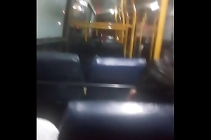 Indian stranger sees together with grabs my cock in develop b publish bus