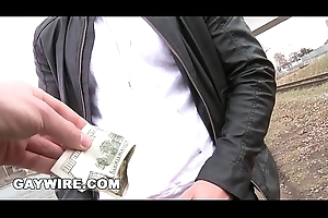 GAYWIRE - Getting Anal Detach from A Dude On The Rooftop Out In Public!