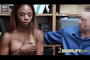 Ebony hottie way of life a hardcore lesson at one's fingertips an obstacle office