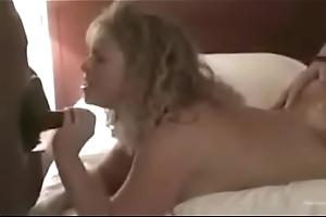 Sexy blonde wife gangbanged in hotel