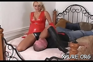 Dominant-bitch makes his face a chair