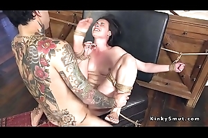 Brunette concomitant anal pleases her dextrous