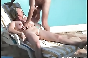 Mature amateur blowjob pool
