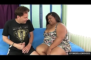 By birth BBW Peaches Love Is Fucked Good by a Guy with a Long Dick