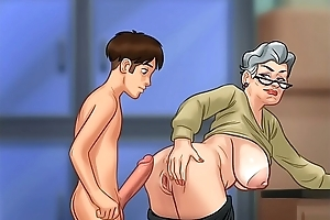 Shafting grandma give doggy style (summer time saga)